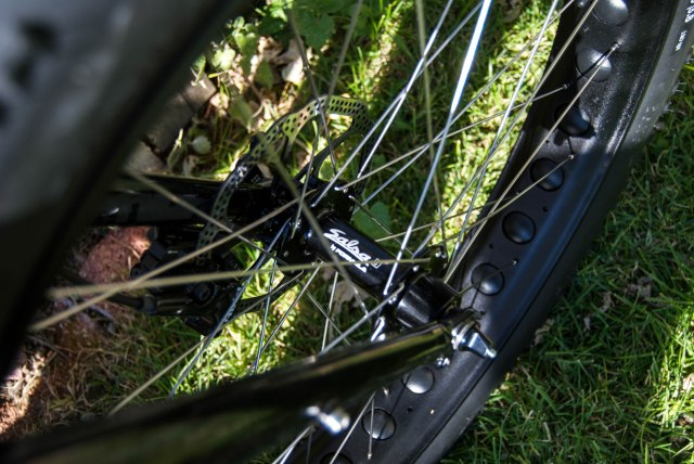 Salsa hubs. Rumor says that Trek will be coming out with their own rims & tires next year.