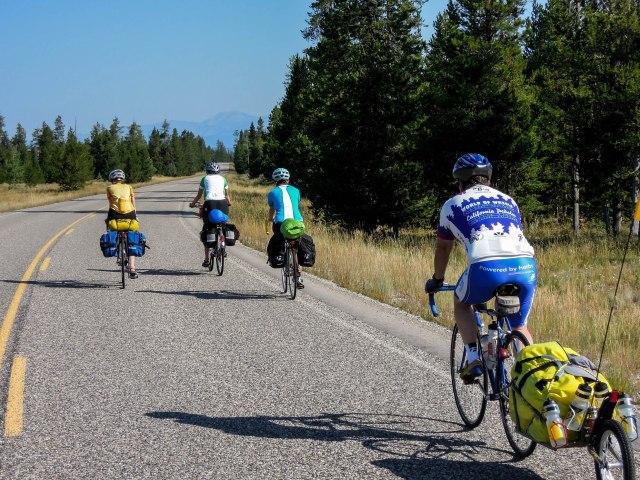 The B.O.B. trailer behind a racing bike.