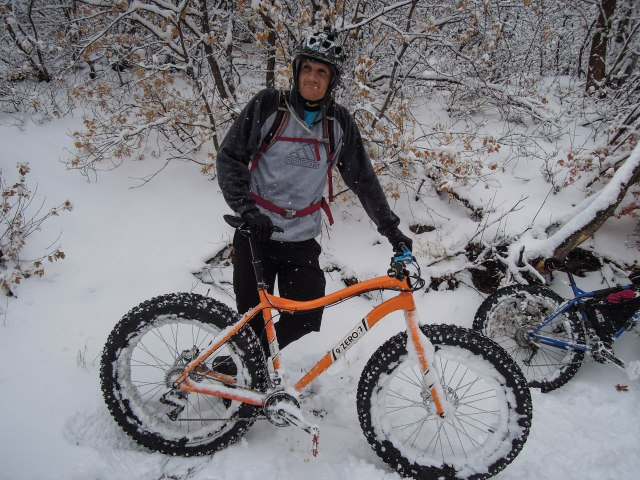 Alex with his new 9:Zero:7 bike.