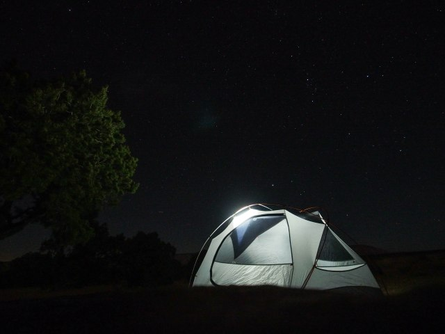Night time camp