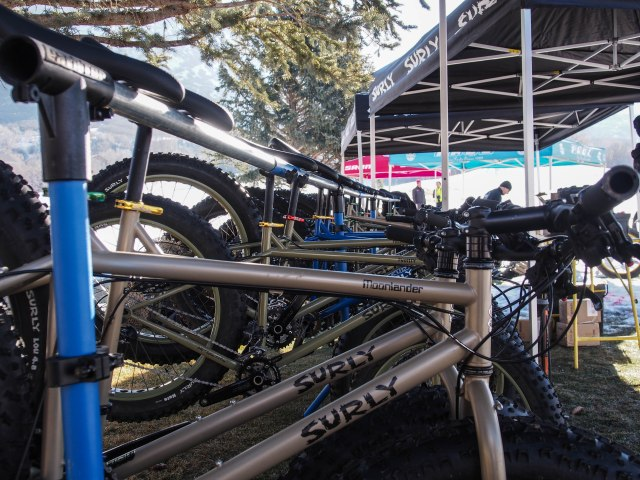 Surly Moonlander and Puglsey bikes to demo.