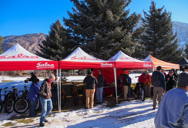 Salsa Cycles booth.
