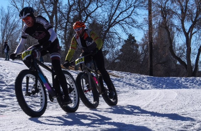 Elite racers at the Fat Bike Summit
