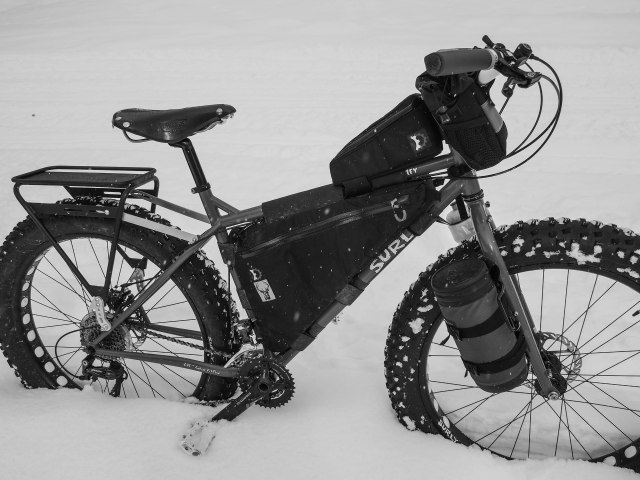 Typical winter ride set-up