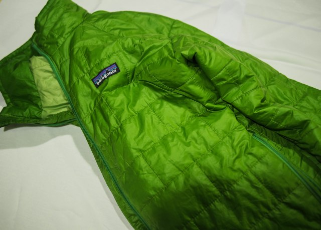 Patagonia Nano-puff jacket is very lightweight, packs down small, and is very warm and windproof.