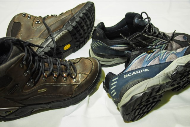 Boots and shoes, both with Gore-tex liners.