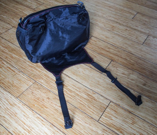 The large RD pocket with support fabric on the bottom.