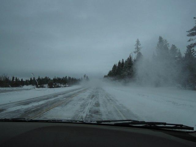 The drive up, outside Ashton.