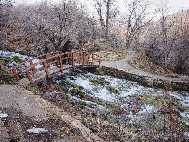 Cascade Springs bridge.