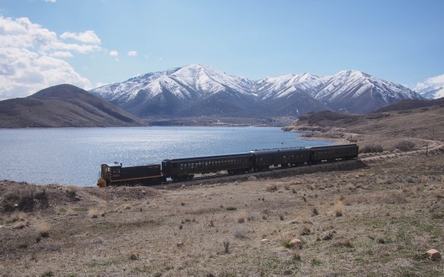 The Heber Creeper steam train.