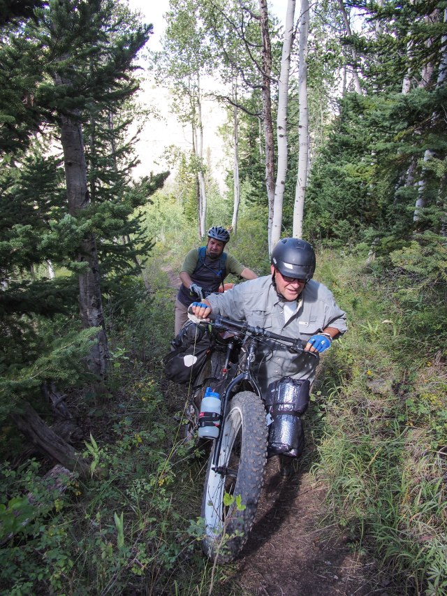 A short hike-a-bike section.