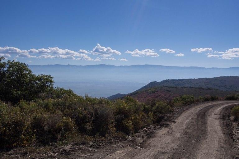 Sanpete Valley far below.