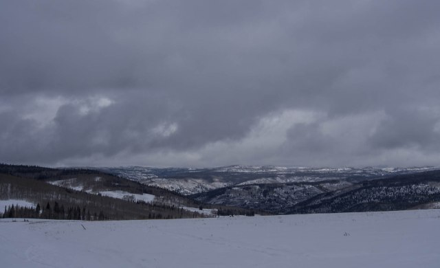 Looking back down into Soapstone Basin from the Pass.