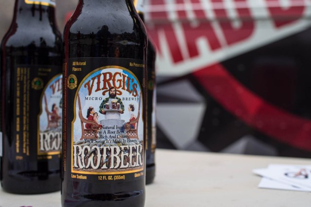 Virg was also a sponsor, handing out bottles of root beer.