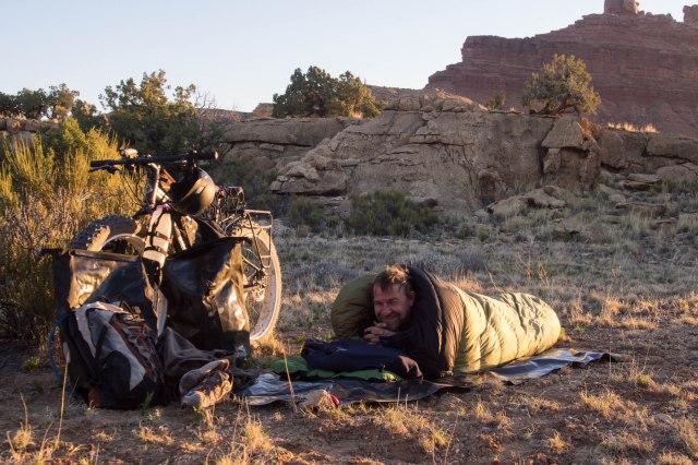 Cowboy camping.