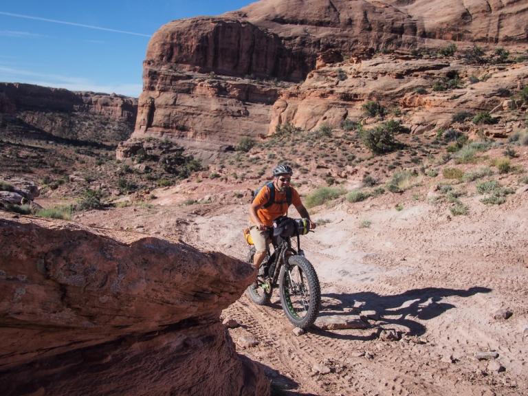 Final climb to the head of Pritchett Canyon.