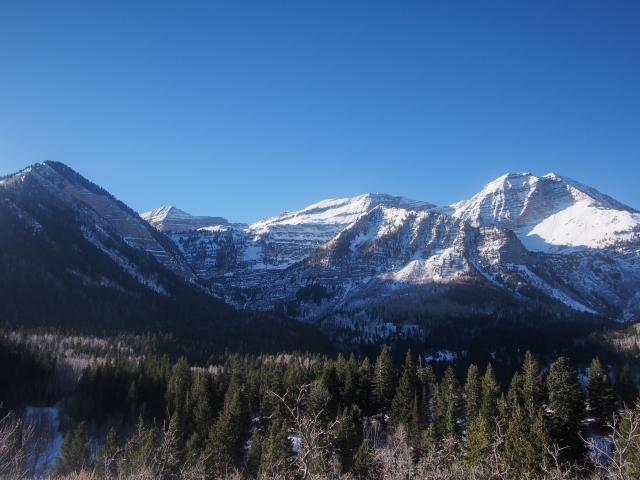 The North side of Mt. Timpanogos