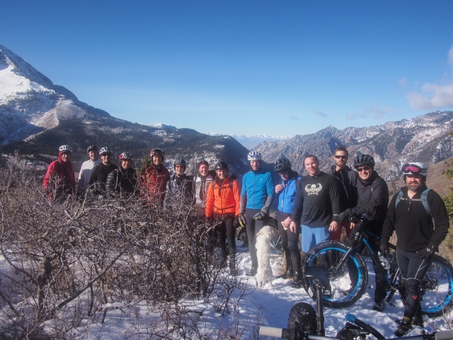 Group photo at the lookout on the Ridge Trail.