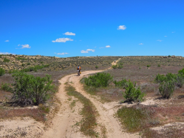 Beginning the climb up toward Yellow Jacket Canyon