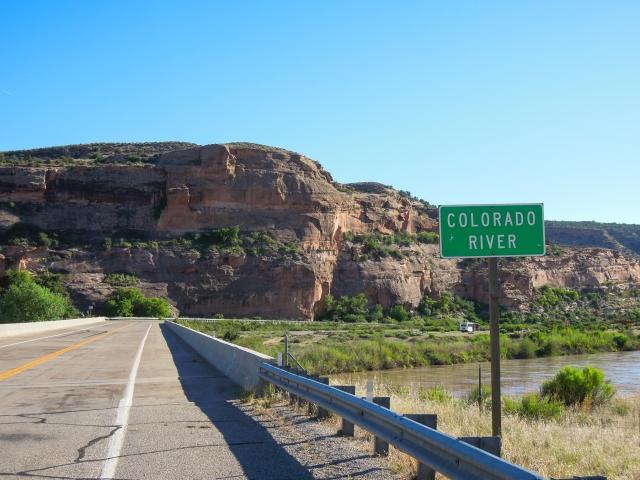 Crossing the Colorado at Dewey Bridge