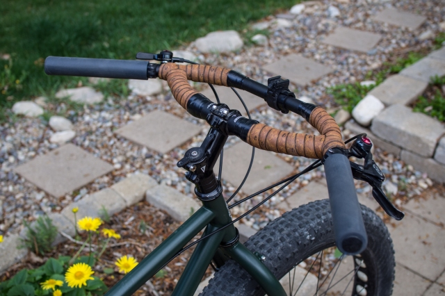 Jones H-bar with extra long, extra chunky ESI grips