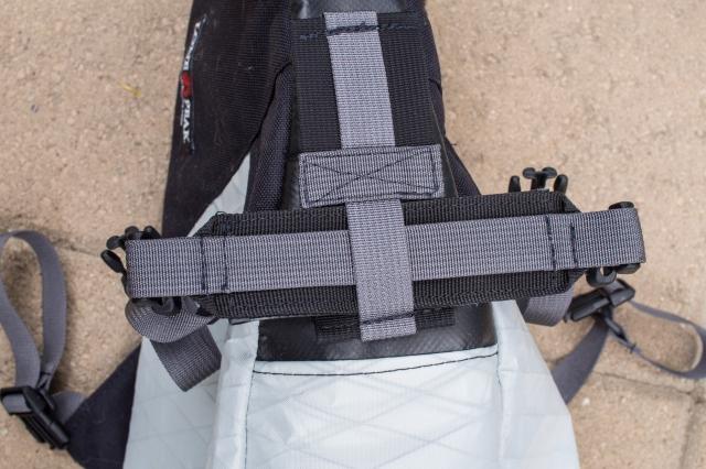 Seat rail strap detail.
