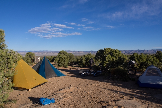 Our camp, the next morning